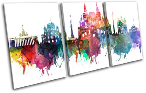 Moscow Watercolour  Abstract City - 13-6036(00B)-TR21-LO